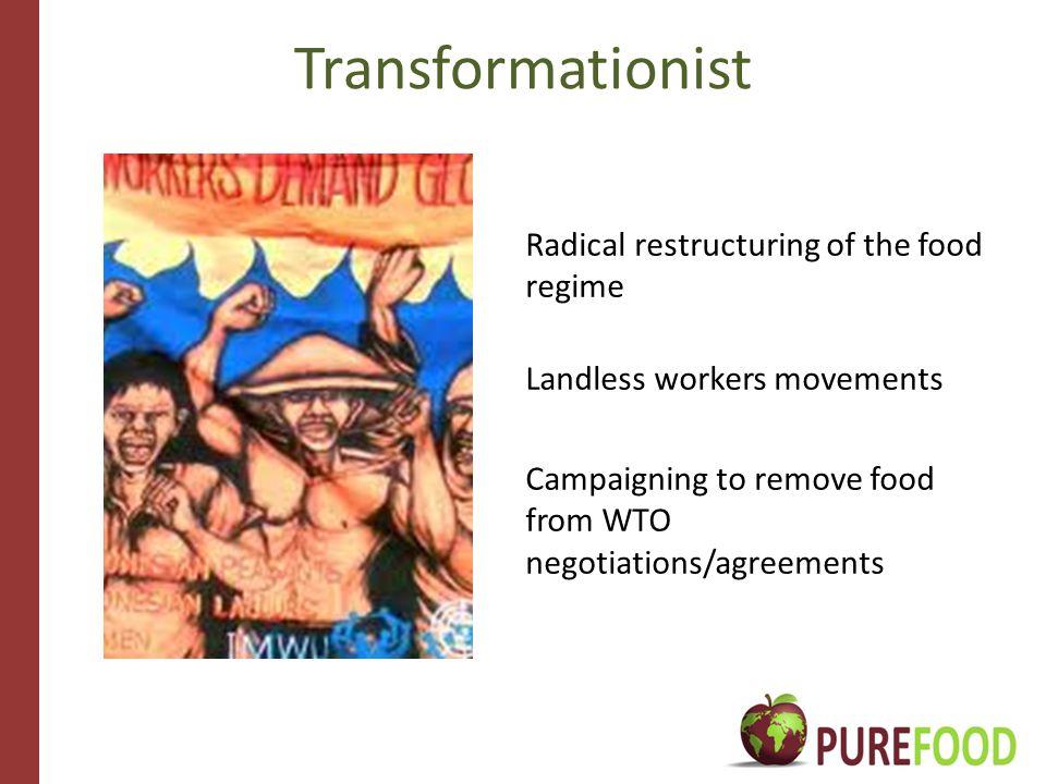 Different alternative discourses