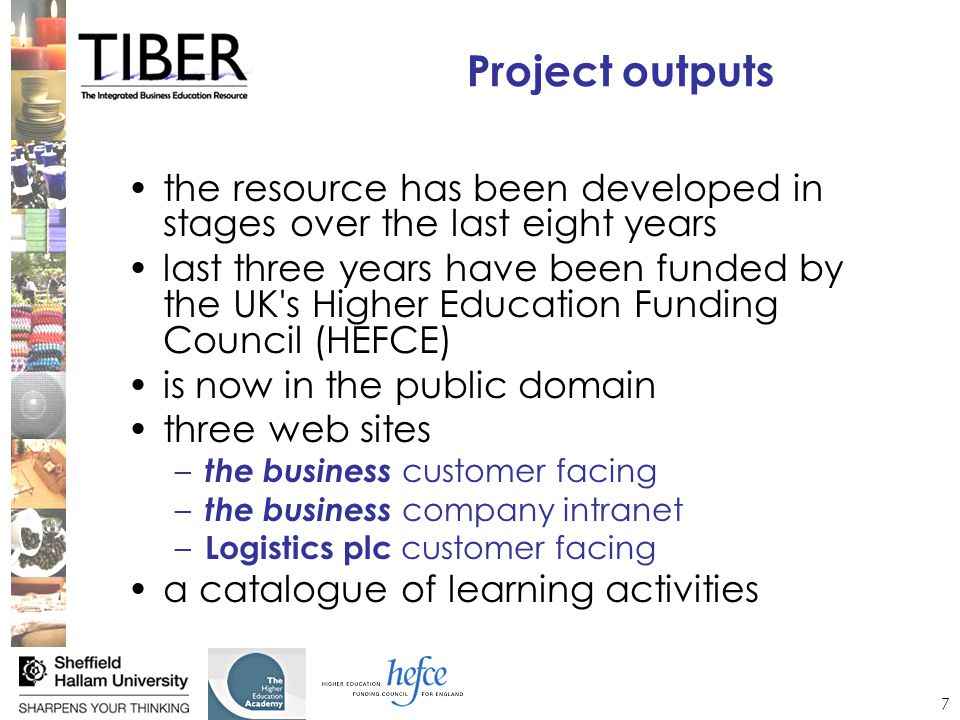 8 the resource a replica retail company –familiarity of students with the context –a wealth of data, descriptions, activities, issues have been devised –provides a common scenario for all modules to use department store –9 branches in different locations –presents range of management challenges supply chain –incorporated through a logistics company