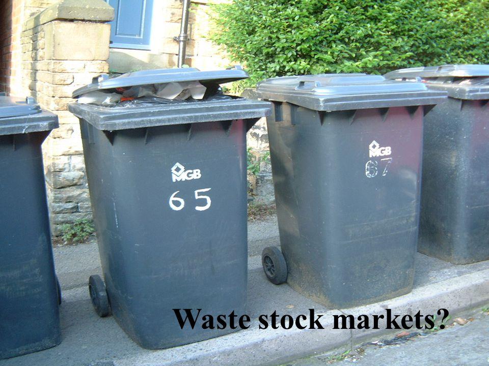 Waste stock markets