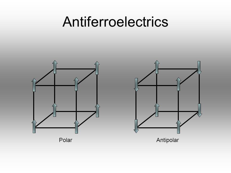 Antiferroelectrics Polar Antipolar