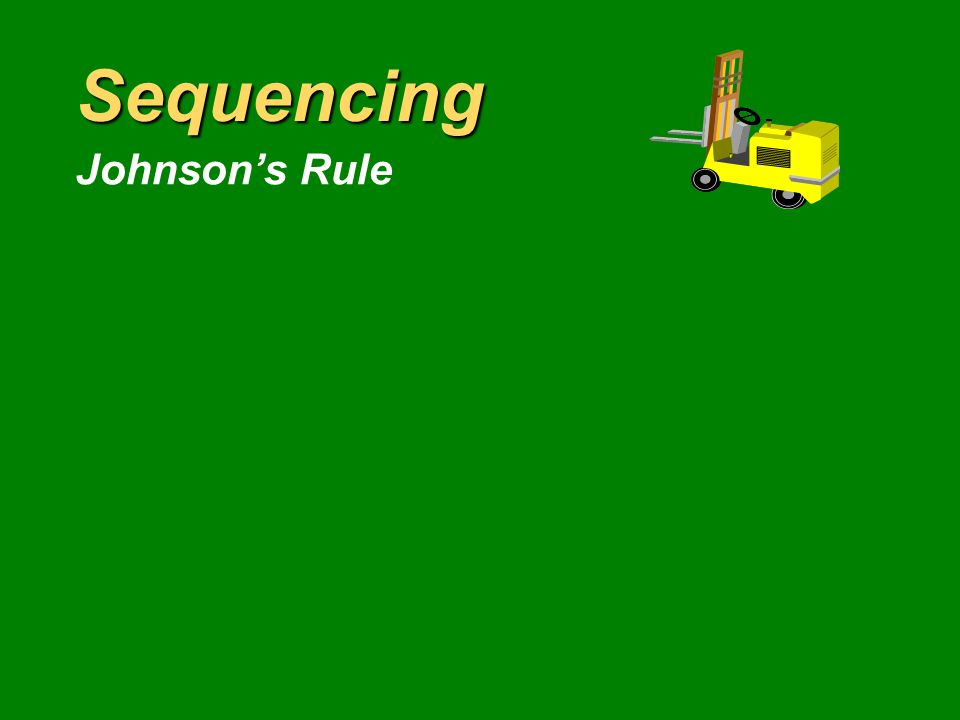 Sequencing Multiple-Dimension Rules OperationTime Time atRemainingNumber of Engineto Due DateOperationsShop Time JobLathe (hr)(Days)RemainingRemainingCRS/RO CR Sequence= S/RO Sequence= Avg Flow Time Avg Early Time Avg Past Due Avg WIP Avg Total Inv ShortestSlack per ProcessingEarliestCriticalRemaining FCFSTimeDue DateRatioOperation Priority Rule Summary Example 17.2