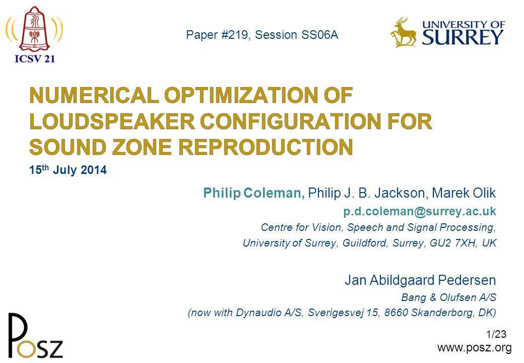 www.posz.org 22/23 Paper #558 Did you see my last talk.