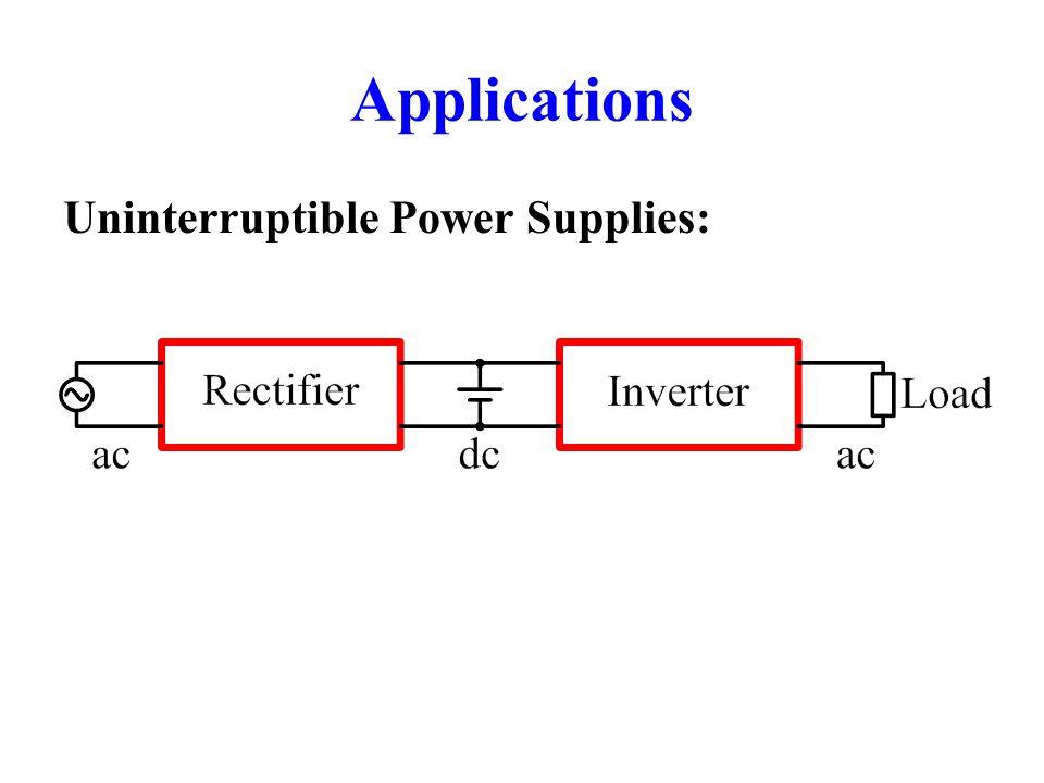 Applications Uninterruptible Power Supplies: