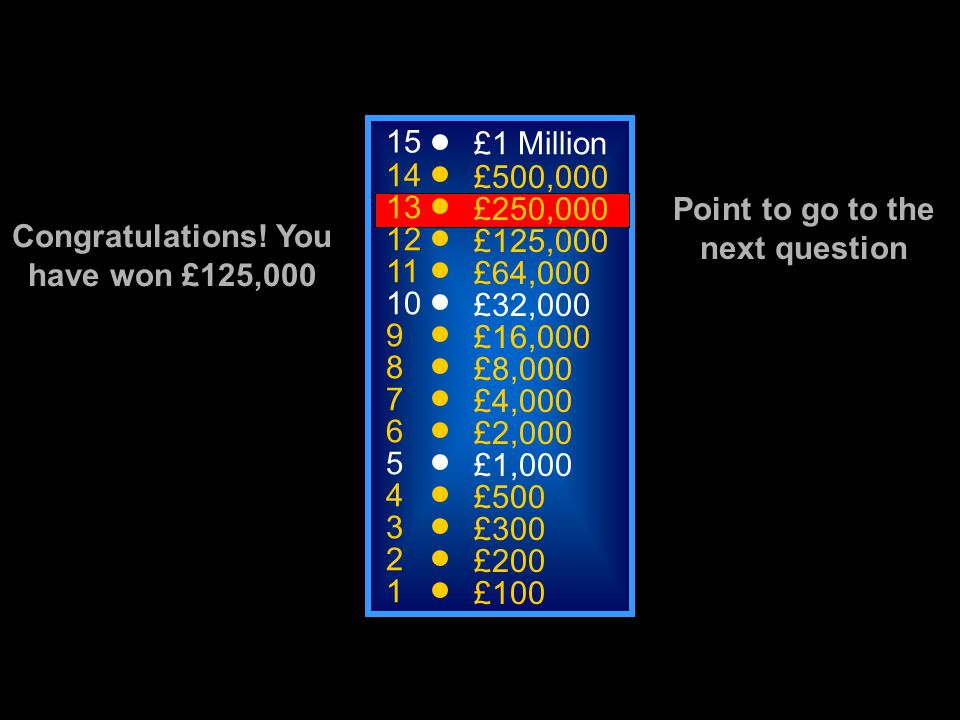 A: Sarcoplasm C: Mitochondria B: Cytoplasm D: Endoplasm Where does aerobic glycolysis take place 15 14 13 12 11 10 9 8 7 6 5 4 3 2 1 £1 Million £500,000 £250,000 £125,000 £64,000 £32,000 £16,000 £8,000 £4,000 £2,000 £1,000 £500 £300 £200 £100 50:50