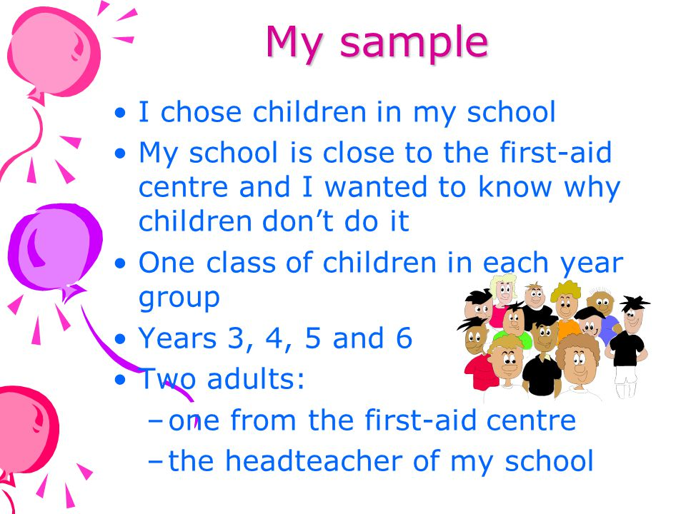 What methods I used Questionnaires for the children Year 3 (n=20) Year 4 (n=22) Year 5 (n=25) Year 6 (n=3) I used a questionnaire because I needed lots of data to get the answers to my questions After I finished analysing my questionnaires I interviewed the head teacher at my school and a teacher from St Johns I used open questions in my interviews to get better answers and recorded the interview on a Dictaphone