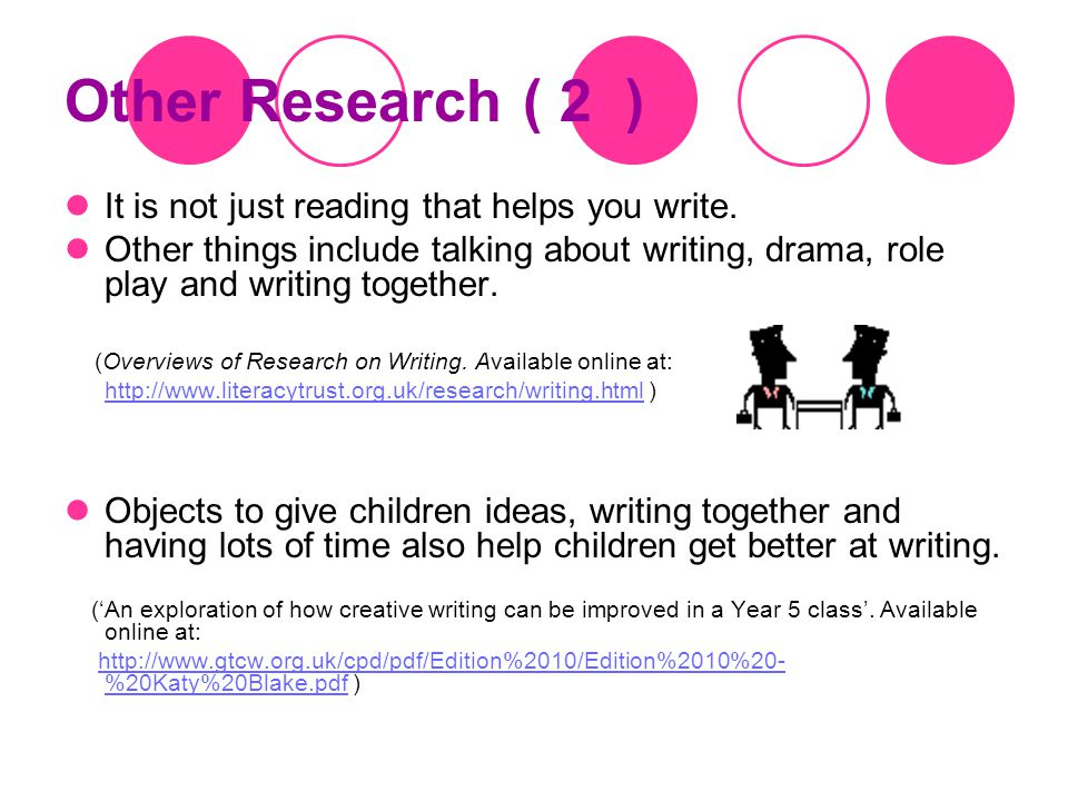 Other Research ( 1 ) Research with six year 5 classes in five London primary school.