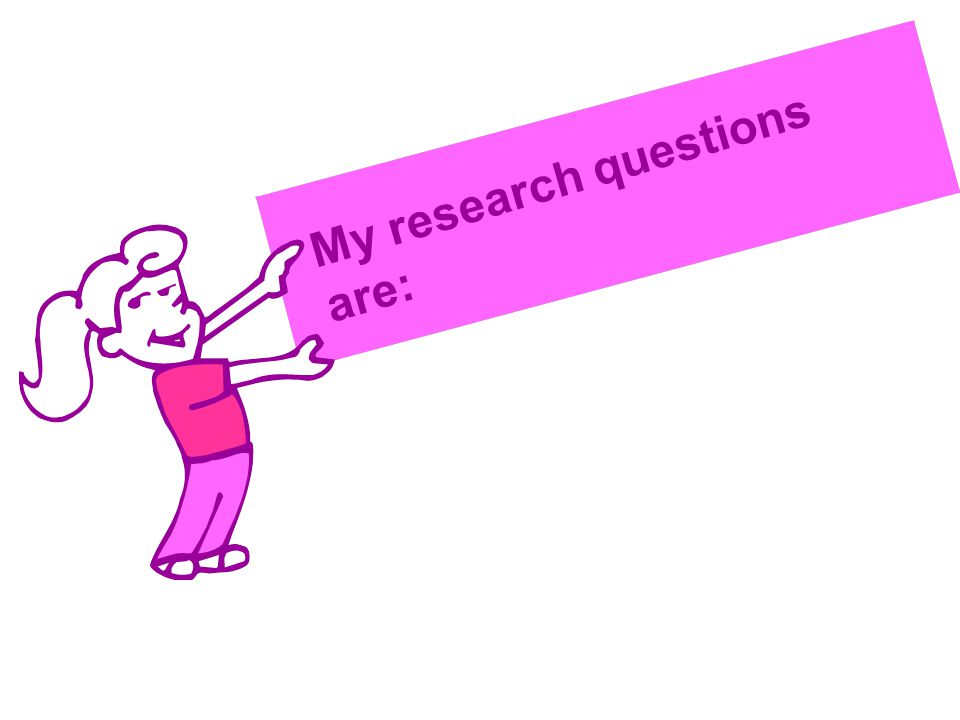 My research questions are: