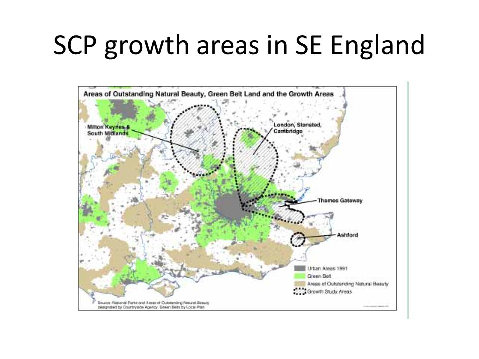 SCP growth areas in SE England