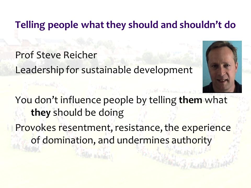 Success suggests that: Should be used more as widely and frequently as possible Decision-making less about deciding, announcing, and defending, and more about local people and decision- makers working together Views would be sought, and listened to, and outcomes that were satisfactory to all would be negotiated