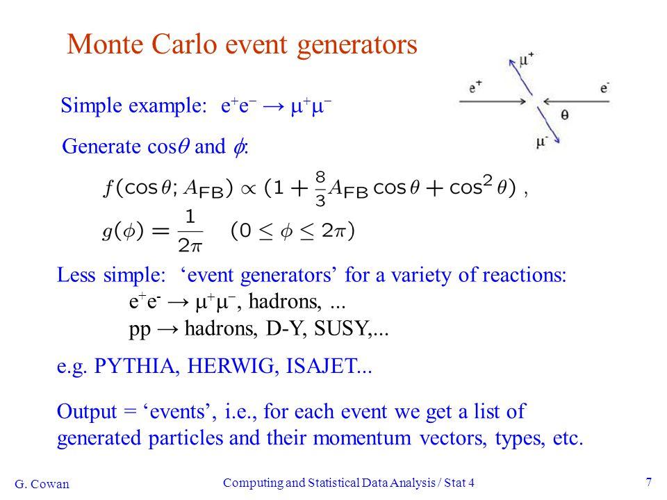 8 A simulated event PYTHIA Monte Carlo pp → gluino-gluino G.