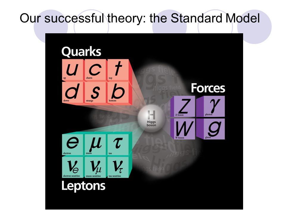 Our successful theory: the Standard Model