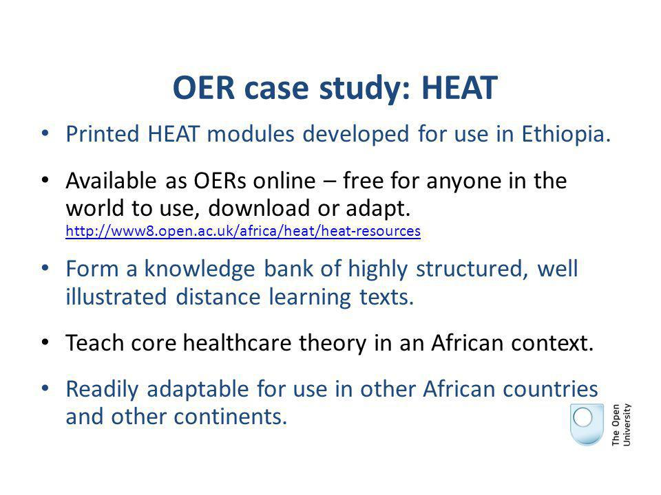 OER case study: HEAT Printed HEAT modules developed for use in Ethiopia.