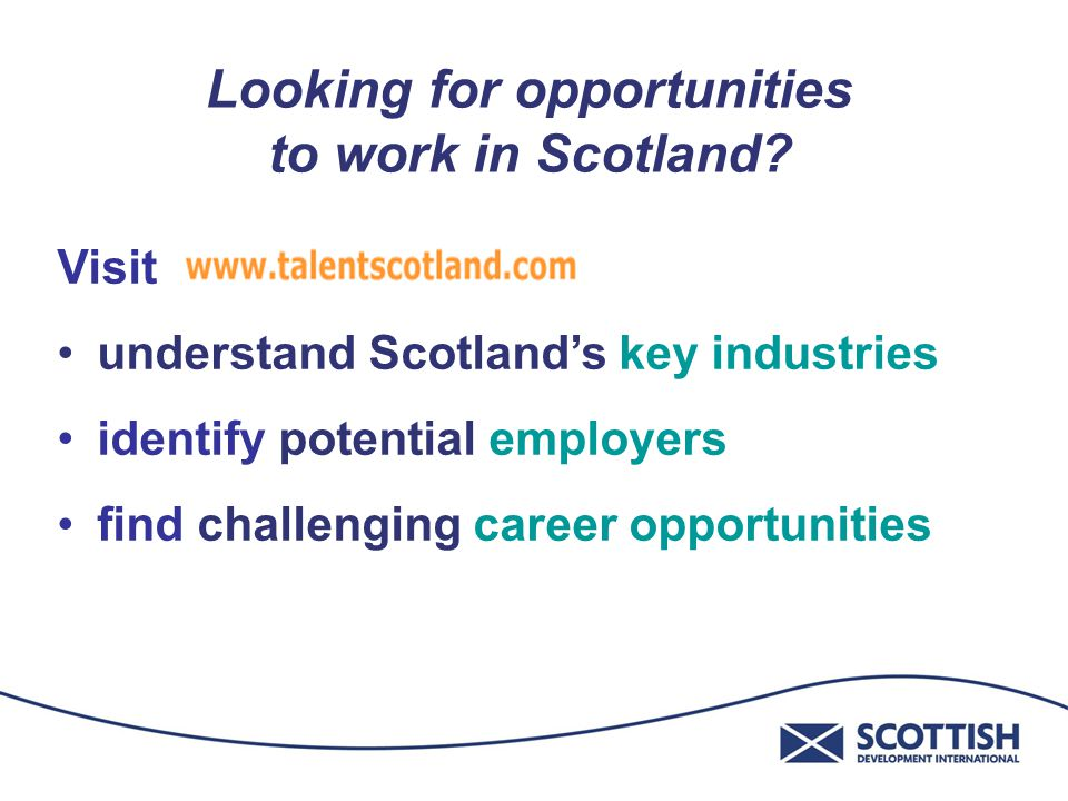 Looking for opportunities to work in Scotland.