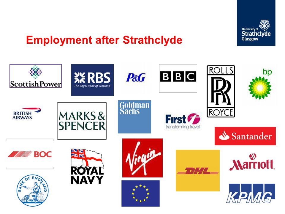 Employment after Strathclyde
