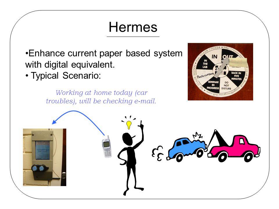 Hermes Enhance current paper based system with digital equivalent.