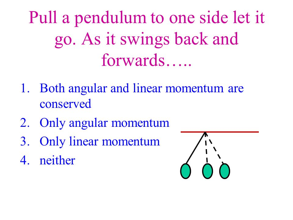 Pull a pendulum to one side let it go. As it swings back and forwards…..