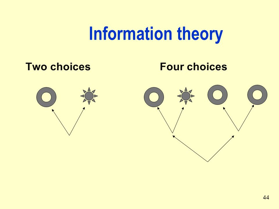 44 Information theory Two choices Four choices