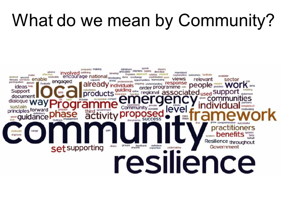 What do we mean by Community