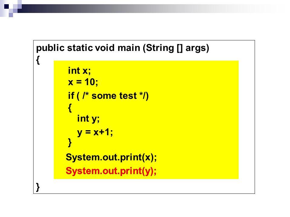 for ( ; ; ) { } i --i >= 1 System.out.println( i ); ***** int i = 10 10 9 8 7 6 5 4 3 2 1