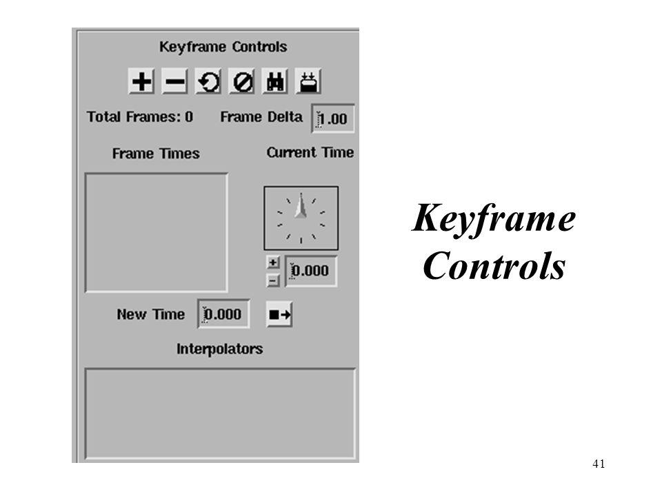 41 Keyframe Controls