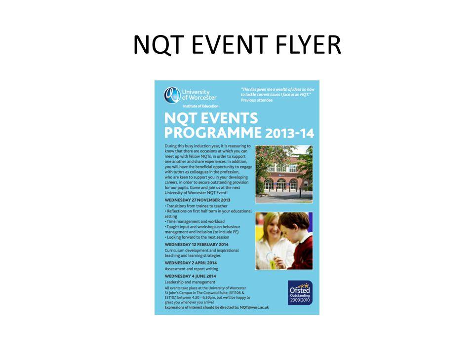 NQT EVENT FLYER