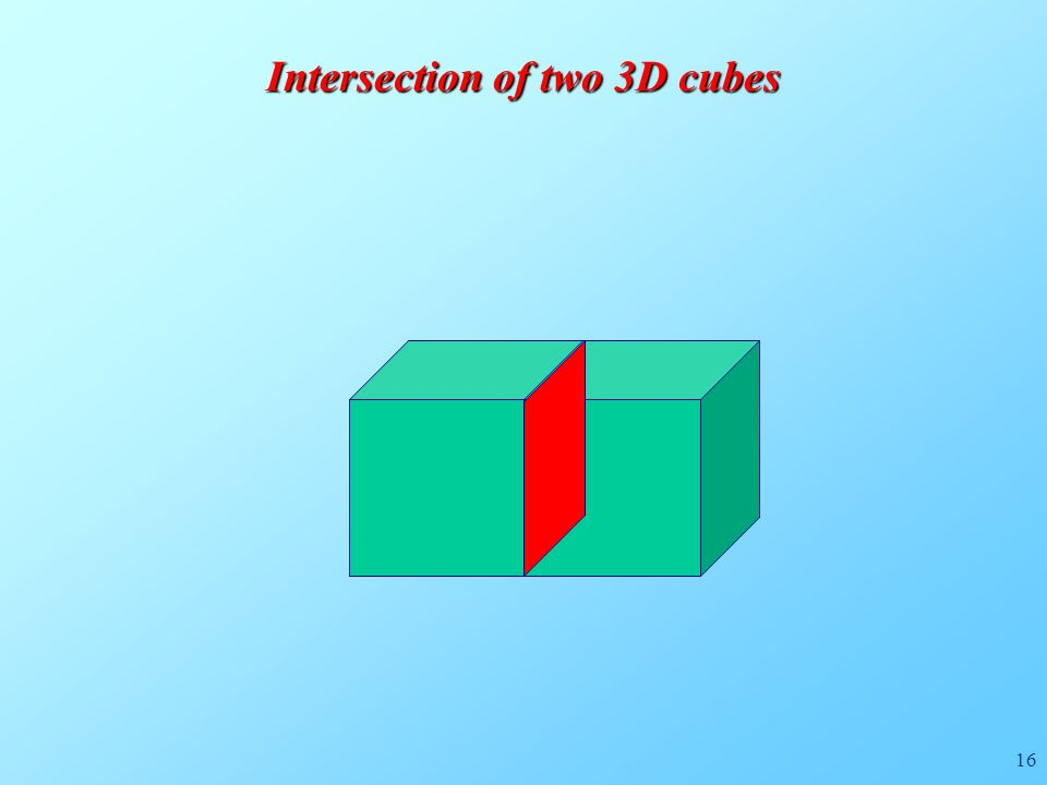 16 Intersection of two 3D cubes