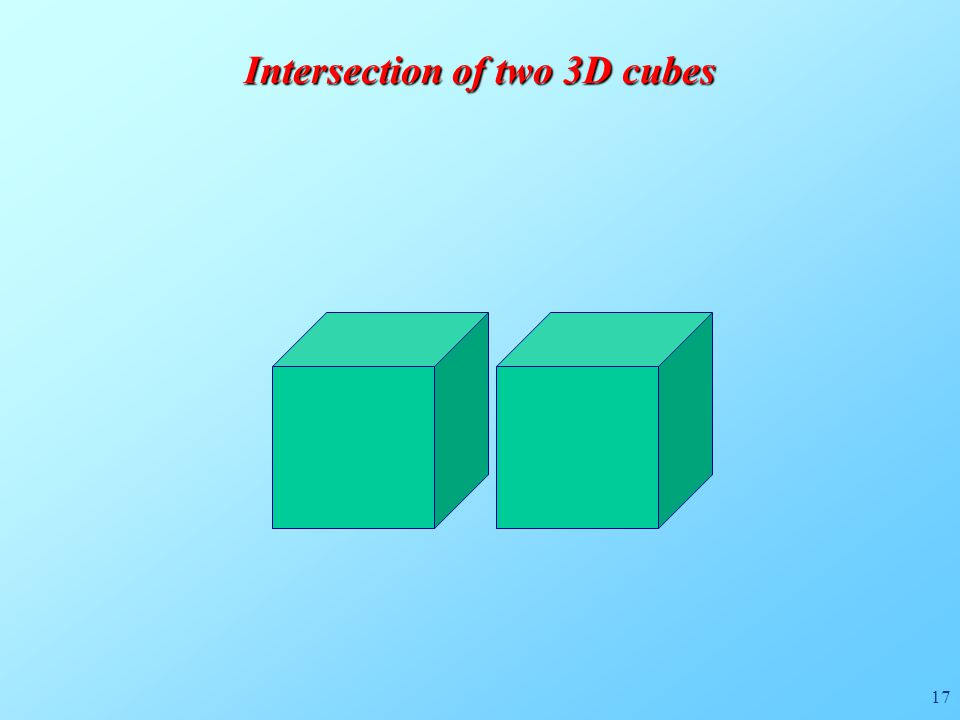 17 Intersection of two 3D cubes