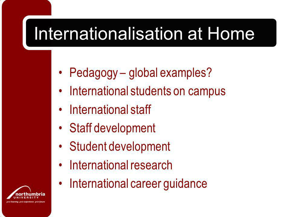 Internationalisation at Home Pedagogy – global examples.