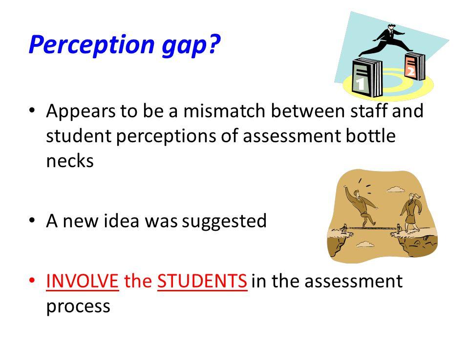Perception gap.