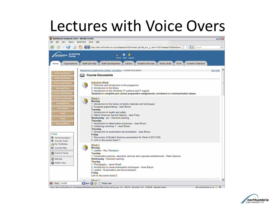 Lectures with Voice Overs