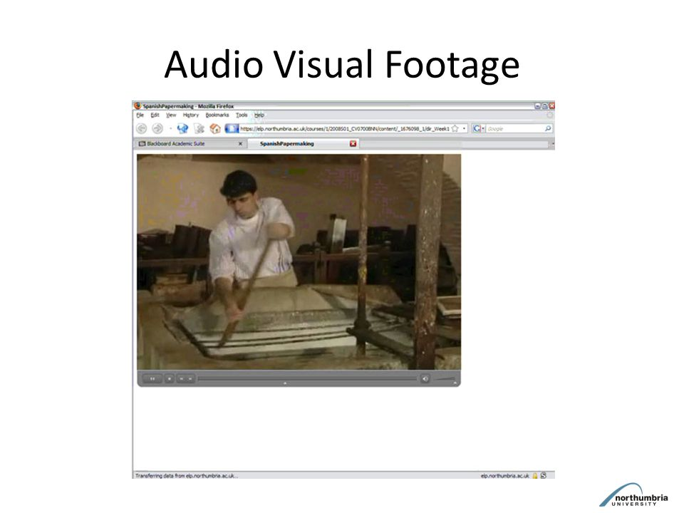 Audio Visual Footage