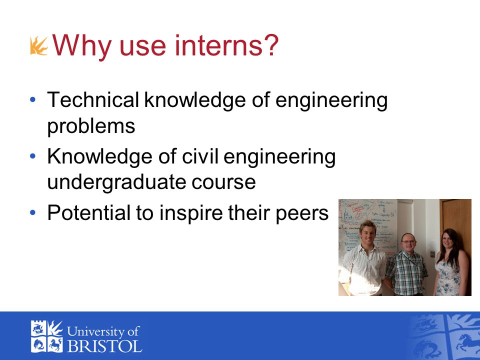 Why use interns.