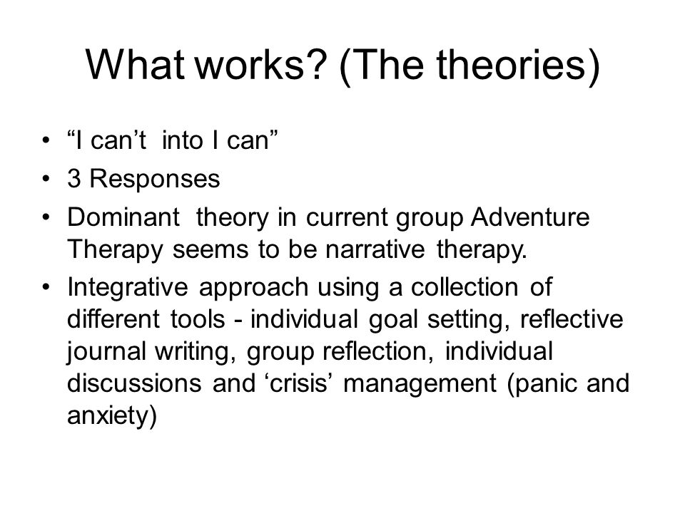 What we have learned from the experience - Counselling Every group totally unique.