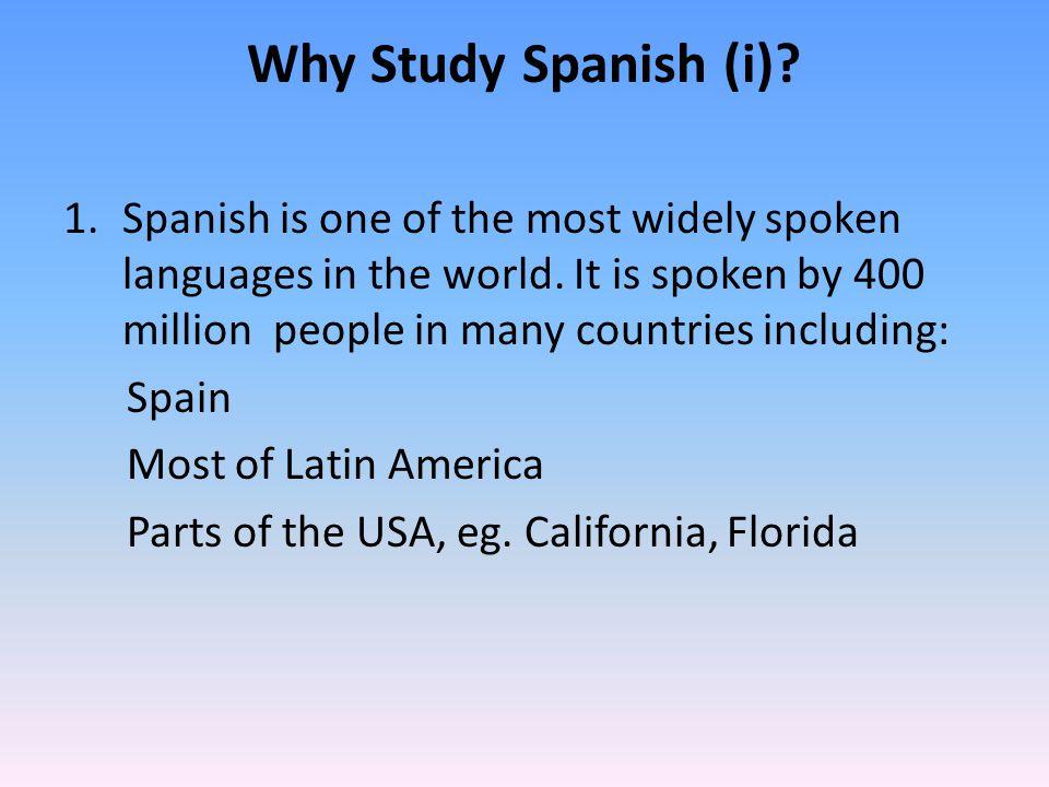 Why study Spanish (ii).