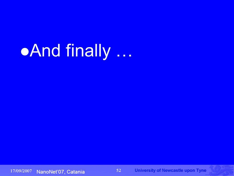 NanoNet'07, Catania 17/09/2007 52 And finally …