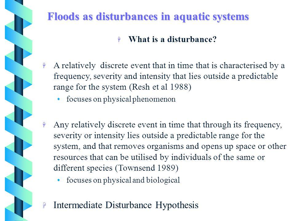 H What is a disturbance.