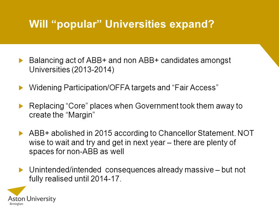 Will popular Universities expand.
