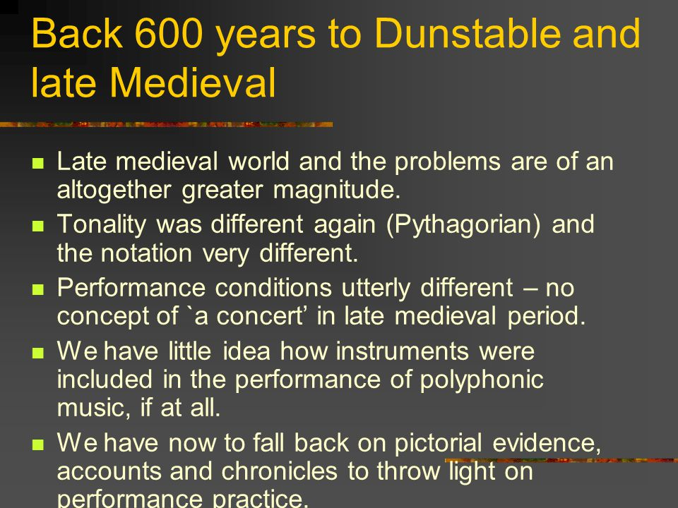 Back 300 years to the Baroque and Handel Go back 300 years to Handel and the baroque and problems are greater.