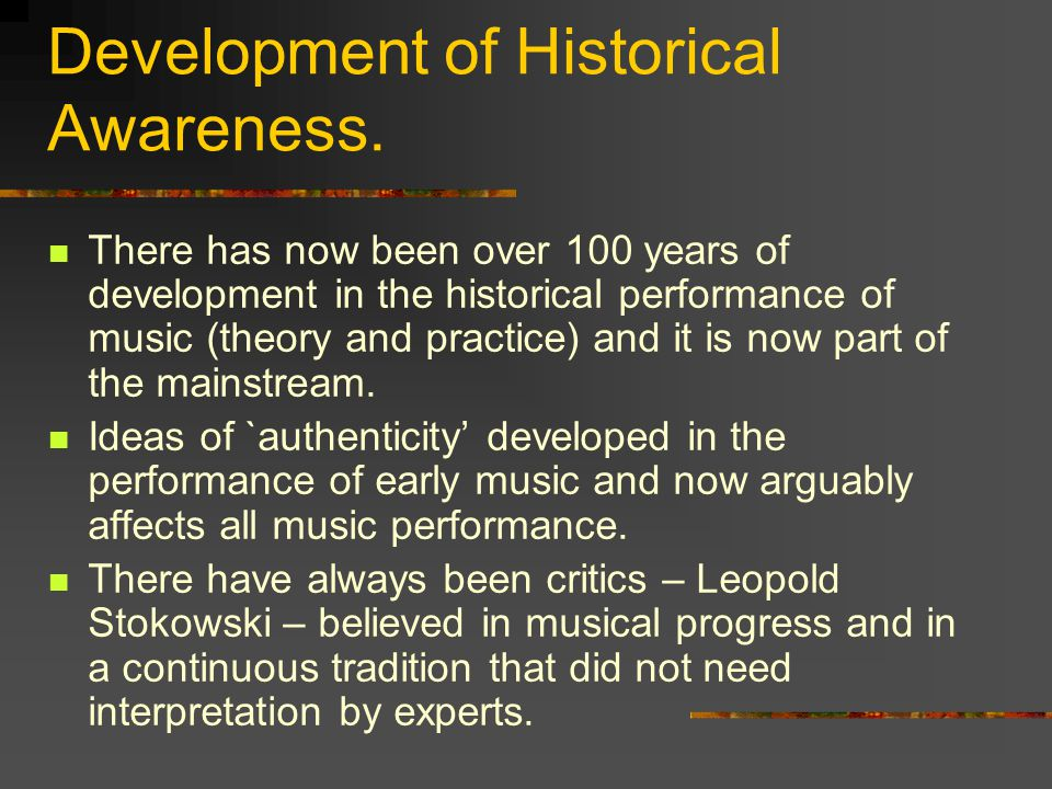 Development of Historical Awareness.