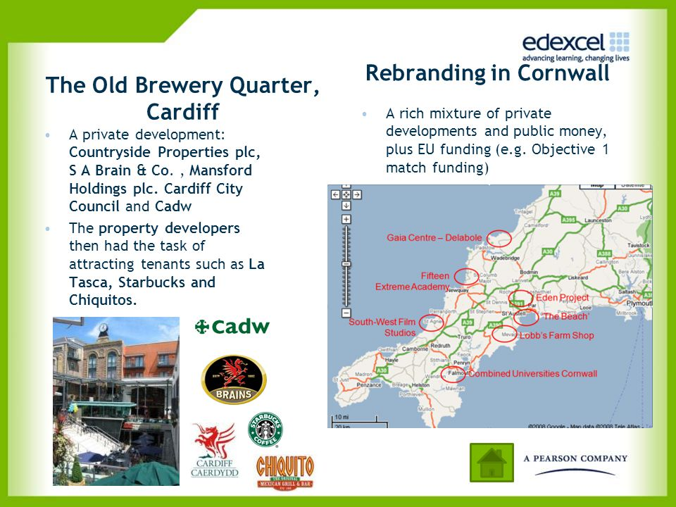 The Old Brewery Quarter, Cardiff A private development: Countryside Properties plc, S A Brain & Co., Mansford Holdings plc. Cardiff City Council and C