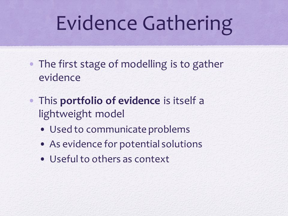 The Modelling Journey Part 2: Tools and Methods