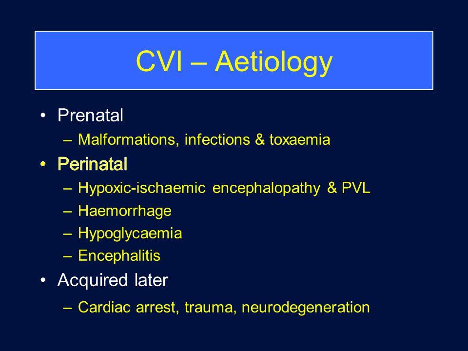 CVI – Aetiology