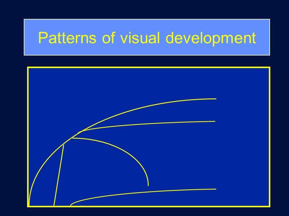 Patterns of visual development