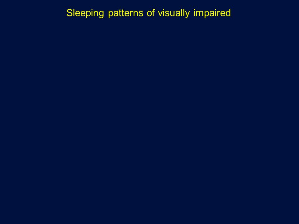 Sleeping patterns of visually impaired