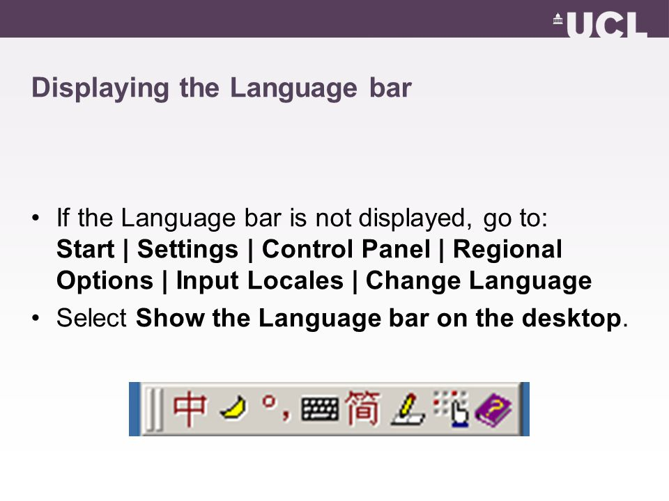Inputting text in other languages Click the Input Locale icon.