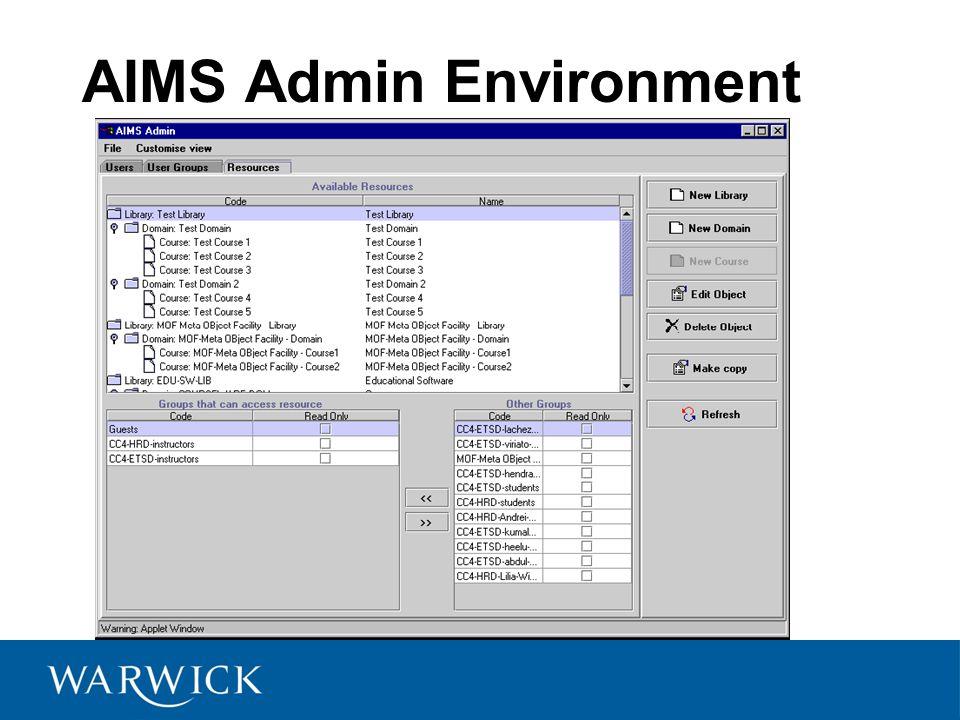 AIMS Admin Environment