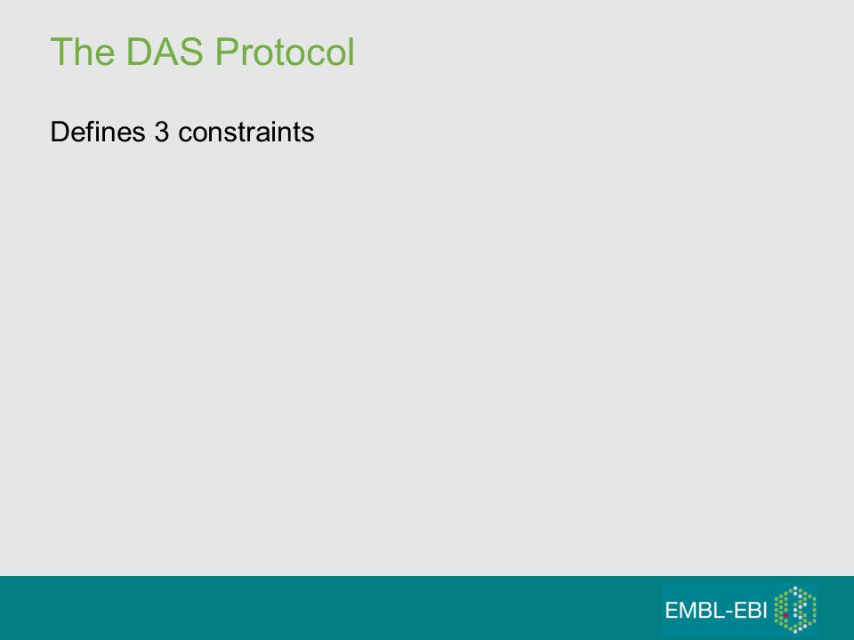 The DAS Protocol Defines 3 constraints