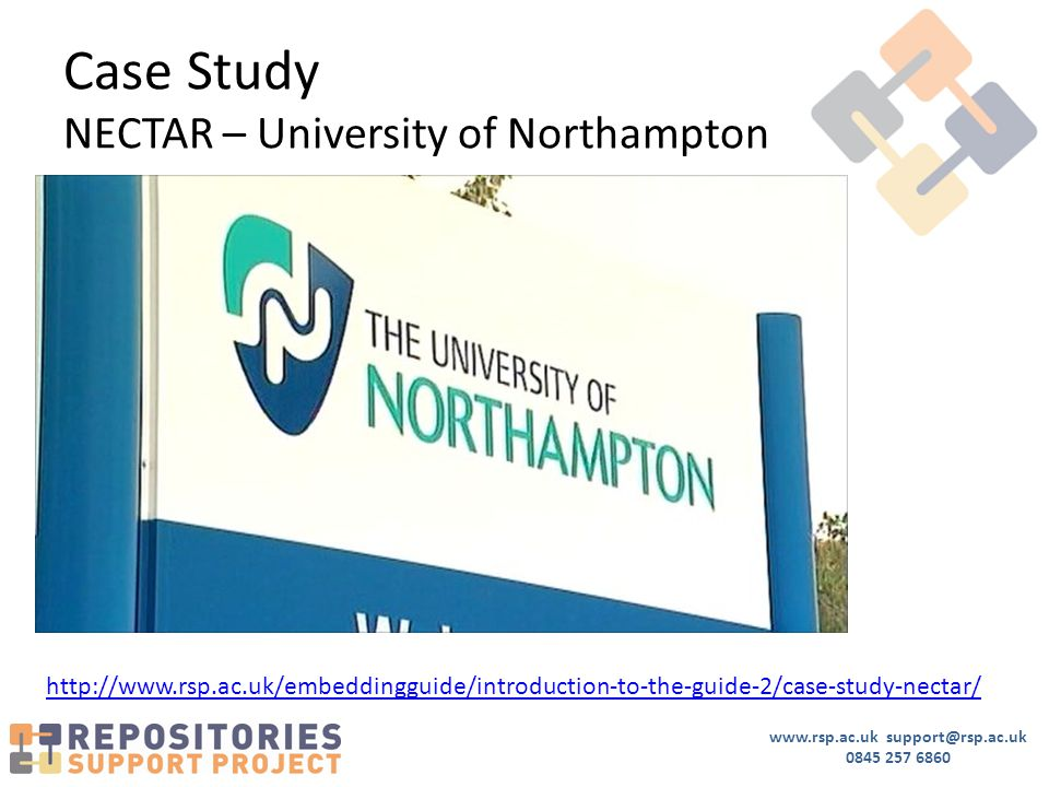 www.rsp.ac.uk support@rsp.ac.uk 0845 257 6860 Case Study NECTAR – University of Northampton http://www.rsp.ac.uk/embeddingguide/introduction-to-the-guide-2/case-study-nectar/