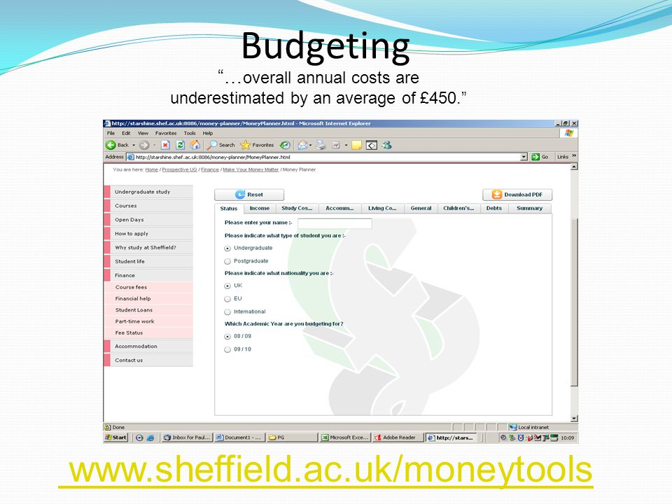 Budgeting … overall annual costs are underestimated by an average of £450.