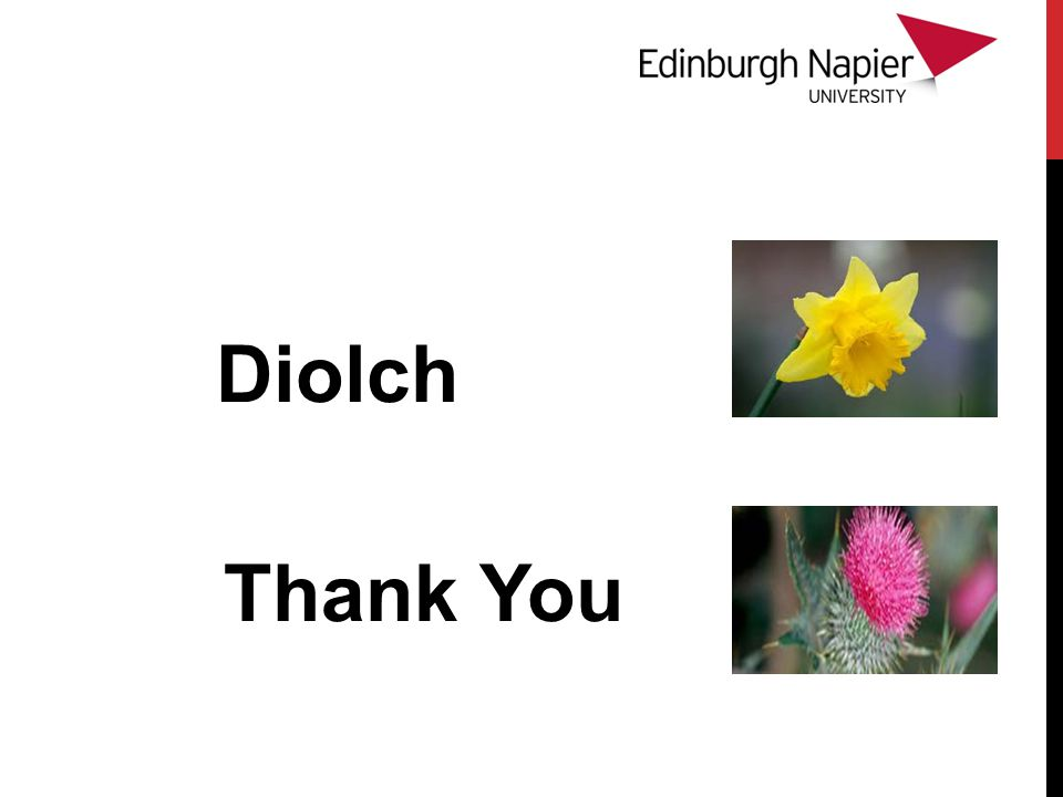 Diolch Thank You